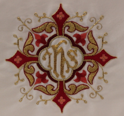 Hand embroidery for Chalice Veil