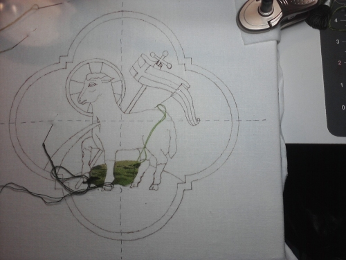Agnus Dei Hand Embroidery Design for Church Vestments