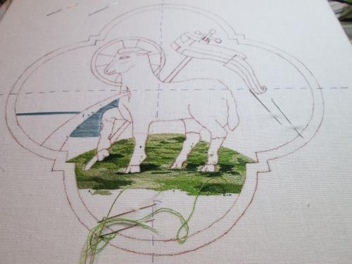 Agnus Dei Ecclesiastical Embroidery Pattern