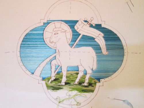 Sky filling nearly completed on small Agnus Dei