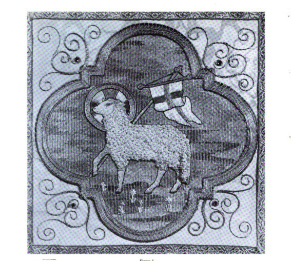 Agnus Dei from Lucy Vaughan Hayden Mackrille's Church Vestments and Church Embroidery Book