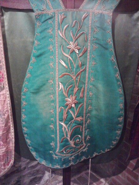 Simple Green Chasuble with Goldwork Embroidery