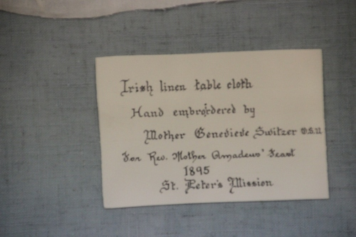 Irish Linen Tablecloth Ursuline Center