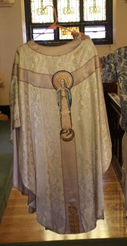 The unexpected surprise: Chasuble from Ursuline Center Great Falls, MT