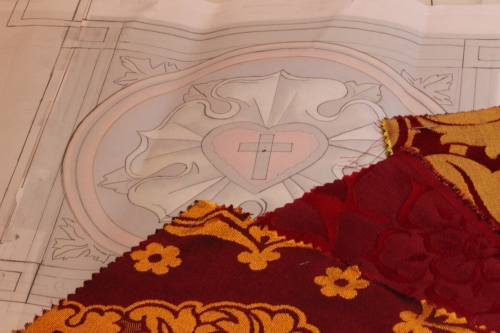 Luther Rose Ecclesiastical Embroidery Design