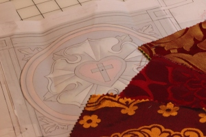 Church Embroidery Design for Luther Rose