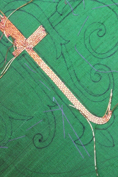 Cross on IHS Goldwork Embroidery