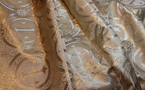 Ecclesiastical Fabric in Gold and White