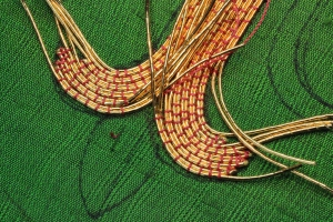 Turning Corners on Goldwork Embroidery