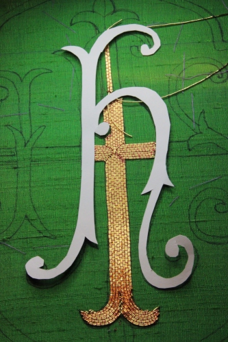 Card Padding Cutout Goldwork