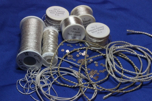 Shiny Squiggly Silver Threads
