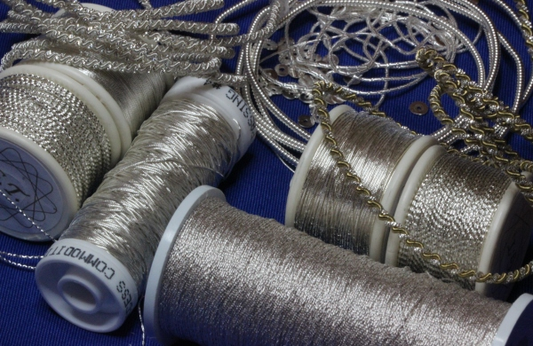 Silver metallic Threads for Goldwork Embroidery