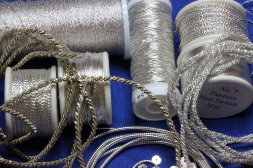 Silver Pearl Purl and Silver Spangles