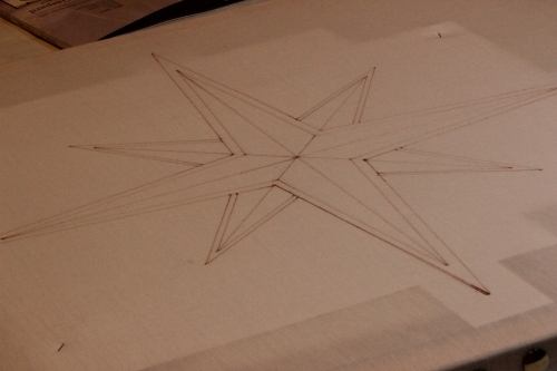 Framing and Tracing Altar Frontal Star