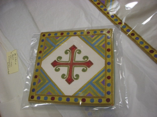 Simple Hand Embroidered Cross Design