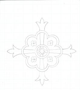 Vintage Ecclesiastical Cross Design Rough Draft