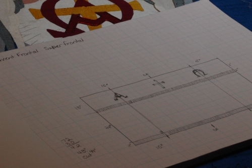 Altar Frontal Measurement and Cutting Plans