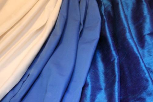 Altar Frontal Fabrics: Silk Dupioni, interlining and interfacing
