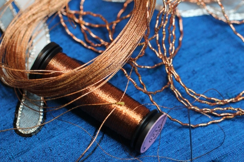 Copper Metallic Threads for Goldwork Embroidery