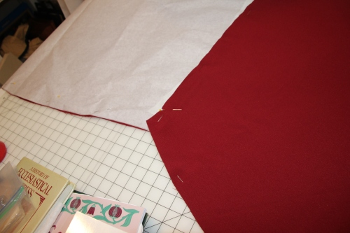 Checking shoulder seam on Chasuble pattern