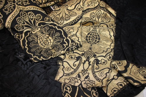 Reversible Wakefield Ecclesiastical Fabric in Black/Gold