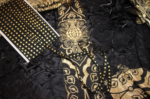 Ash Wednesday Chalice Veil Project with Black/Gold Dice Trim