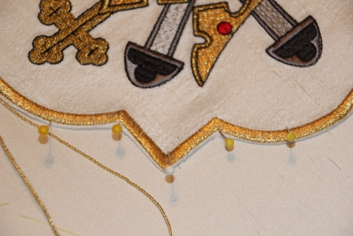 Positioning Ecclesiastical Embroidery Motif to Silk Superfrontal