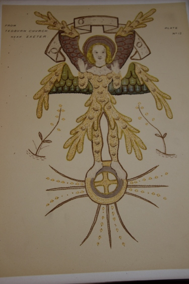 Mary Barber Some Drawings from Ancient Embroideries Six winged creature