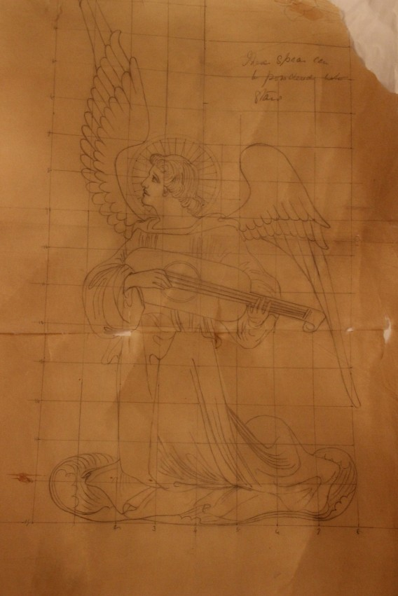 Angel Design for Ecclesiastical Embroidery