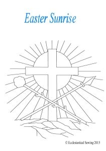 Easter Sunrise Ecclesiastical Embroidery Design