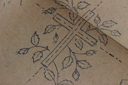 Rose and Cross Ecclesiastical Embroidery Design