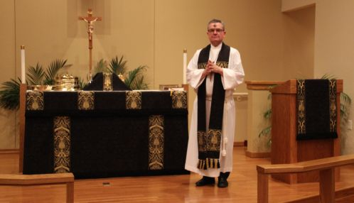 Black Vestments used for Ash Wednesday and Good Friday at Prince of Peace