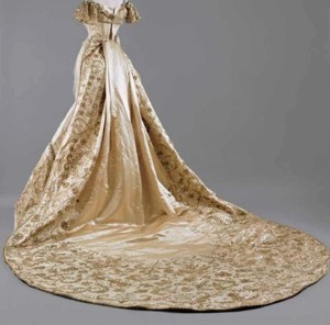 Court Dress of Princess Elisabeth Kinsky with Elaborate goldwork embroidery