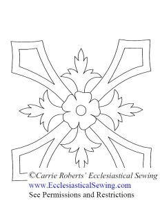 Ecclesiastical Hand Embroidery Pattern Cross Design