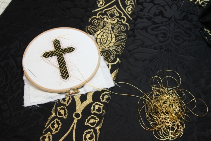 Passion Cross intended for Chalice Veil