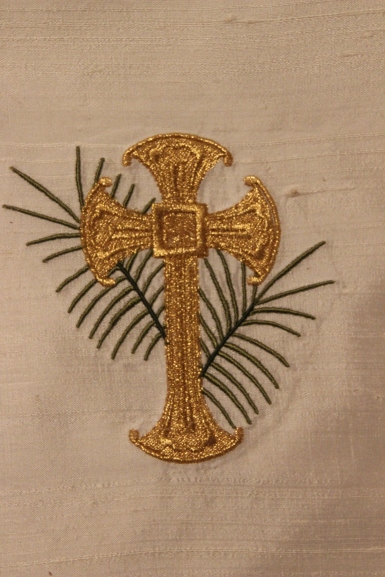 Ecclesiastical Embroidery Motif Cross with Palm
