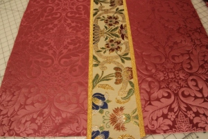 Rose Vestments with Gold oak Leaf Galloon Trim