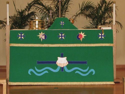 Green Altar Frontal and Superfrontal when it was first used