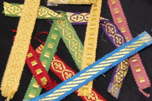Assorted trims for use on Church Vestments