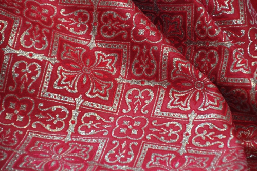 Red and Gold Orphrey Fabric for Pentecost