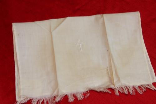 Vintage Linen Baptismal Towel