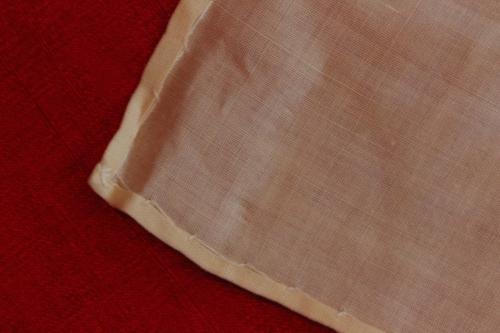 Hem and corner of Baptismal Towel