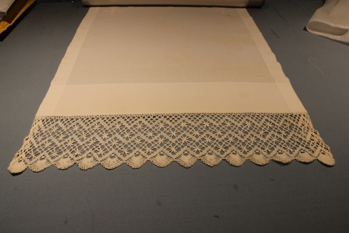 Altar Fair Linen with Edge Trim and wide hem