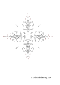 Fleur Cross Liturgical Embroidery Design
