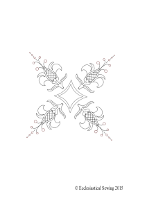 Liturgical embroidery design Fleur de lis