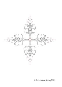 Fleur Cross Liturgical Embroidery Design