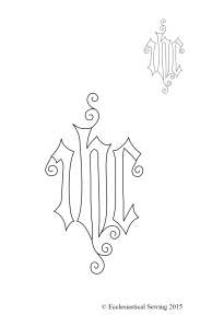 Small IHC Hand Embroidery Design for Altar Linens