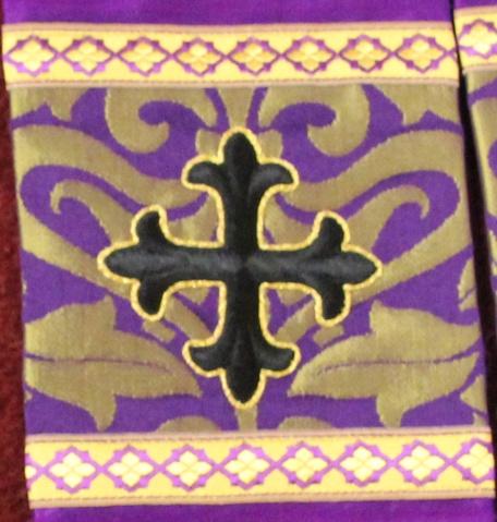 Lenten Stole Orphrey in Violet Gold Fairford
