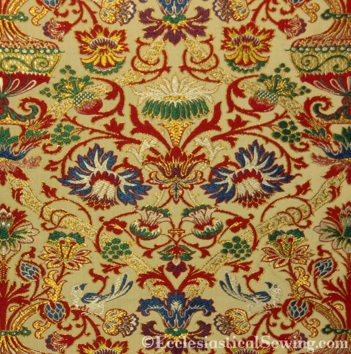 Red Aragon Tapestry fabric Religious fabric church vestments copes chasuble fabrics