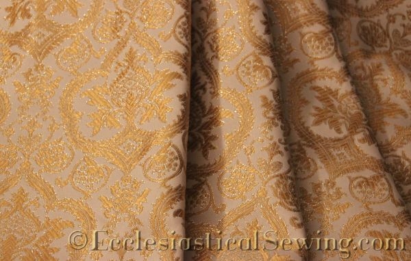 Evesham Liturgical Fabric White Gold